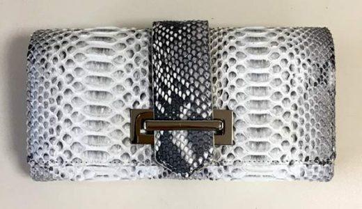 楽天 春財布 『ダイヤモンドパイソン』のかぶせの長財布