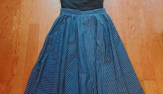 楽天 LFO安くてかわいい、履きやすいフレアースカート、フリルブラウス