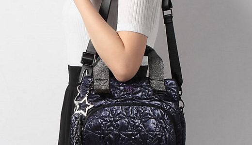 アナスイ キラキラメタリック調のキルティング刺繍 プラネタ 2WAYショルダーバッグ