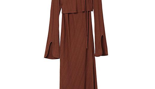 三越伊勢丹 Mame Kurogouchi(マメ クロゴウチ) Ribbed Jersey Multi-Way Dress